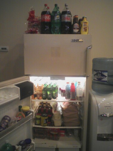 That fridge is STOCKED!